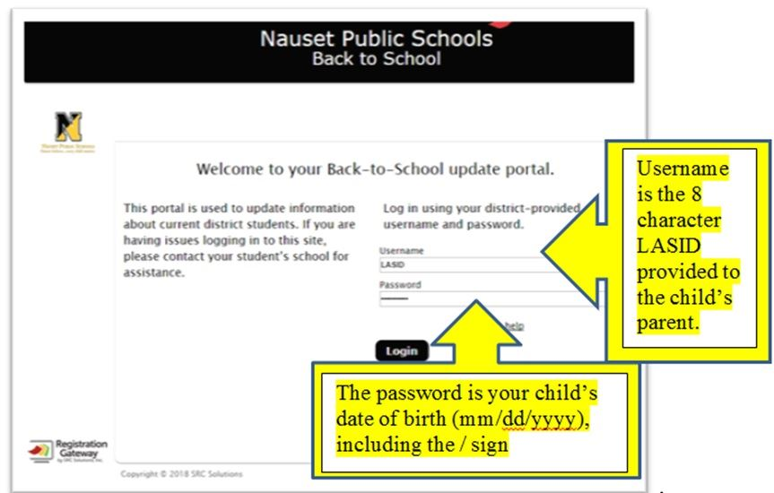 Back To School Portal Update