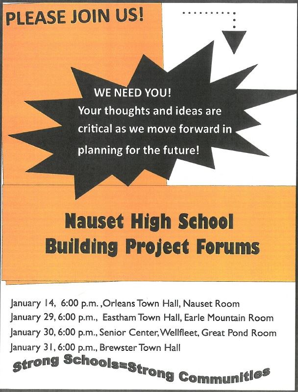 Nauset High School Building Project Forum Dates